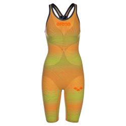 ARENA Powerskin Carbon Air² 2 Femme - Psycho Lime Orange - Dos Fermé - Combinaison Natation