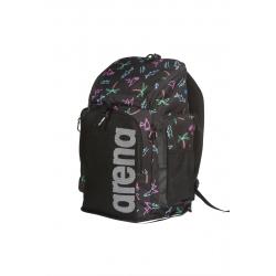 ARENA Team Backpack 45 Allover Neon Lights Black - Sac à Dos Natation & Piscine