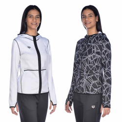 Sweat Femme ARENA W Hooded Spacer Reversible F/Z JACKET CARBONICS PRO-WHITE