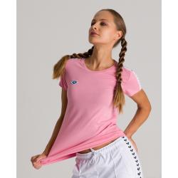 Tee shirt ARENA FEMME W Team Shirt Team - Sea Rose White