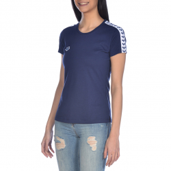 Tee shirt ARENA FEMME W Team Shirt Team - Navy White Navy