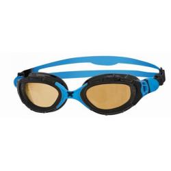 ZOGGS Predator Flex Polarisées Ultra - Black Blue Copper - Lunettes Triathlon et natation