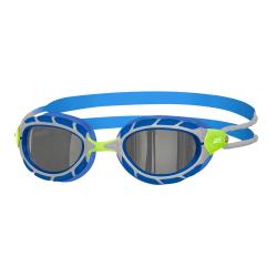 ZOGGS Predator Titanium Taille S / Small Fit - Green Blue Titanium - Lunettes Triathlon et natation