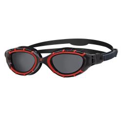 Zoggs PREDATOR FLEX POLARIZED - Red / Black / Smoke Polar