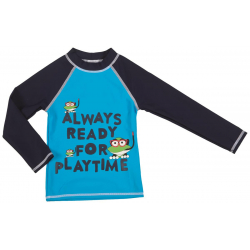 Tshirt Aquatique ARENA Water Tribe Kids Boy Manches Longues Turquoise Navy