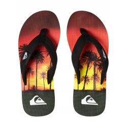 Tongues Quiksilver MOLOKAI Black Orange Orange XKNN