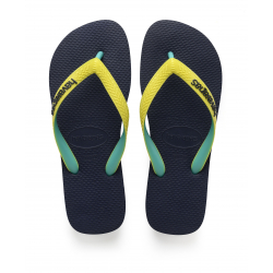HAVAIANAS TOP MIX - NAVY/NEON YELLOW