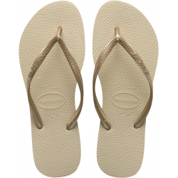 HAVAIANAS SLIM - SAND GREY/LIGHT GOLDEN