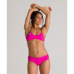 ARENA ICONS Criss Cross Back 2 pieces Pink Flambe - Maillot de bain 2 pièces