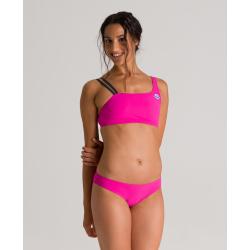 ARENA ICONS Mono 2 pieces Pink Flambe - Maillot de bain 2 pièces