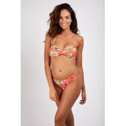 Haut de Bikini BANANA MOON BORO POPPYSEEDS - CORAIL - Haut maillot de bain Plage 2 pièces
