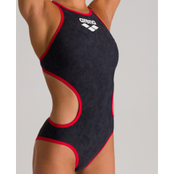 ARENA One Sand - Black Red - Maillot Natation Femme 1 piece