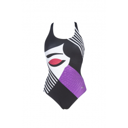 Arena AIKA Cradle Back - Black Black - Maillot Natation Femme Bodylift