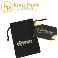 BRACELET PIERRES NATURELLES 7 CHAKRAS et AGATE BLEUE 8mm - KIREI PARIS BIJOUX