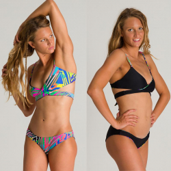 ARENA Triangle 2 pieces Reversible - Ash grey Multi Black - Maillot de bain Plage 2 pièces