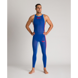 ARENA Powerskin Homme Open Water R-Evo + Full Body - Closed - Electric Blue Fluo Yellow