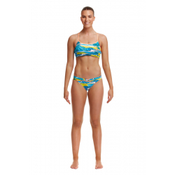 Funkita SUMMER BAY - ECO Swim Crop Top & Hipster Brief - Maillot 2 pièces Natation