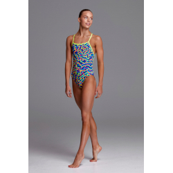Funkita Fille (8-14ans) NOODLE BAR - Strapped In - Maillot Fille Natation