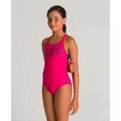Arena SPOTLIGHT (6-14ans) Junior - Swim Pro Back - Freak Rose Navy - Maillot Fille Natation
