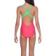 Arena BASICS (6-14ans) Junior - Swim Pro Back - Freak Rose Golf Green - Maillot Fille Natation