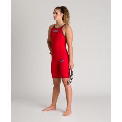 ARENA Powerskin Carbon Air² 2 Femme - Red - Dos Fermé - Combinaison Natation Rouge