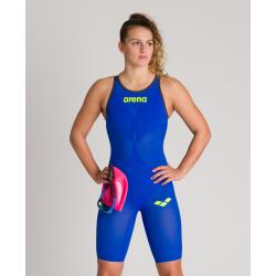 ARENA Powerskin Carbon Air² 2 Femme - Electric Blue - Dos Fermé - Combinaison Natation Bleu