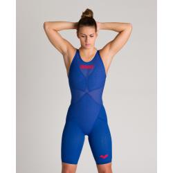 ARENA Carbon GLIDE Powerskin Dos Fermé - Ocean Blue - Combinaison Natation Femme