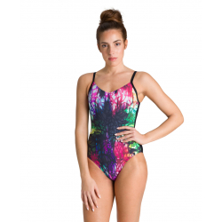 Arena Bodylift GRACE U-Back - Black Multi Black - Maillot Femme Natation & Aquagym