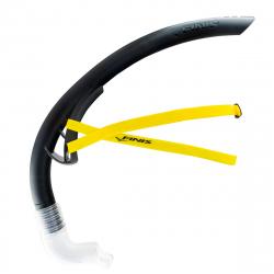 FINIS Stability Snorkel Black - Tuba Frontal Natation