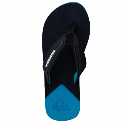 Tongs Junior Quiksilver - Molokai New Wave Deluxe Youth - Black Blue XKBB