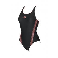 Arena JOINY Swim Pro - Black Shiny Pink - Maillot Natation Femme 1 pièce