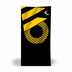 Serviette Microfibre HEAD Printed Microfiber Towel - Black Yellow