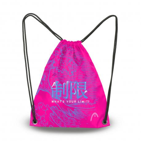 Head Printed Sling Bag Fuji Pink - Sac pour matériel Natation