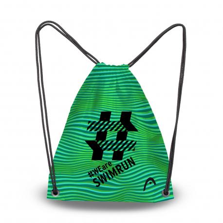 Head Printed Sling Bag Swimrun - Black Green - Sac pour matériel Natation