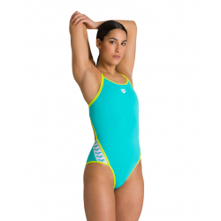 ARENA Team Stripe Super Fly Back - Mint Soft Green - Maillot Natation Femme 1 pièce