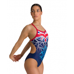 Arena OG Challenge Back UK United Kingdom - Collection Bishamon - Maillot Natation Femme Royaume Uni