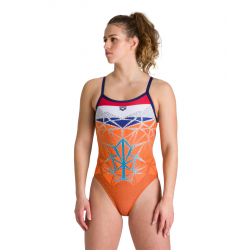 Arena OG Challenge Back Nederland - Collection Bishamon - Maillot Natation Femme 1 piece