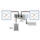Boitier d'Alimentation + commande filaire pour 2 compte-secondes équipés de LED IHM 632B/LED