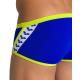 Arena Team Stripe - Low Waist Short - Neon Blue Soft Green - Boxer Natation Homme