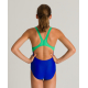 Arena SPOTLIGHT (6-14ans) Junior - Swim Pro Back - Blue Golf Green - Maillot Fille Natation