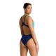 Arena SOLID Swim Tech High - Mint Navy - Maillot Natation Femme 1 pièce