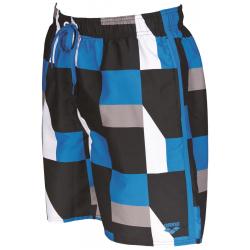 ARENA PRINTED GEOMETRICAL BERMUDA Black/Pix blue