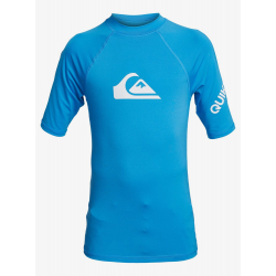 Tee Shirt Quiksilver All time BOY SS-BMS Blue Danube