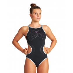 ARENA One Glasses One Piece - Black-Silver - Maillot Natation Femme