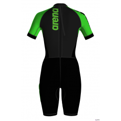 Arena SWIMMRUN Femme Wetsuits Black Fluo Green - Combinaison Néoprène Swimrun