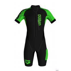 Arena SWIMMRUN Homme Wetsuits Black Fluo Green - Combinaison Néoprène Swimrun