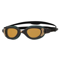 Zoggs Predator Flex Polarized ULTRA REACTOR Smaller Fit - Black / Metallic Gold / Copper - Lunettes triathlon et natation