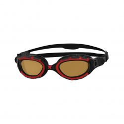 ZOGGS Predator Flex Polarisées Ultra Smaller Fit - Red Black Copper - Lunettes Triathlon et natation