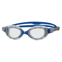 ZOGGS Predator Flex Smaller Fit - Grey Blue Clear - Lunettes Triathlon et natation