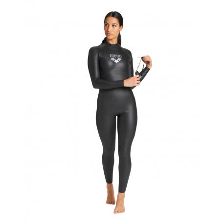 ARENA W Triwetsuit Carbon Femme Black Silver - Combinaison Néoprène Eau Libre et Triathlon